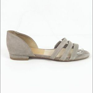 DV by Dolce Vita Gray Suede Slip on Flat Sandals